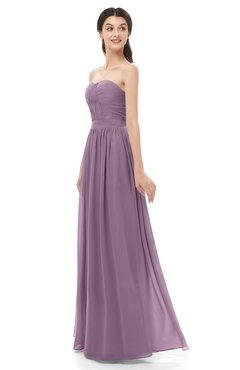 ColsBM Esme Valerian Bridesmaid Dresses Zip up A-line Floor Length Sleeveless Simple Sweetheart