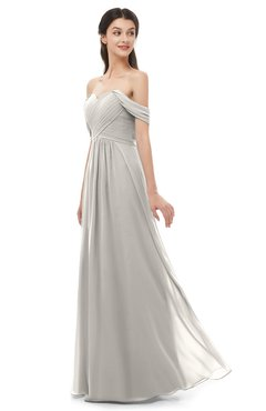 ColsBM Sylvia Ashes Of Roses Bridesmaid Dresses Mature Floor Length Sweetheart Ruching A-line Zip up