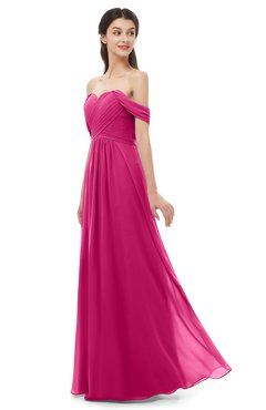 ColsBM Sylvia Beetroot Purple Bridesmaid Dresses Mature Floor Length Sweetheart Ruching A-line Zip up
