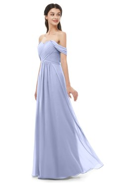 ColsBM Sylvia Blue Heron Bridesmaid Dresses Mature Floor Length Sweetheart Ruching A-line Zip up