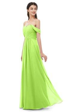 ColsBM Sylvia Bright Green Bridesmaid Dresses Mature Floor Length Sweetheart Ruching A-line Zip up