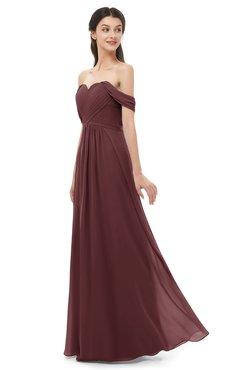 ColsBM Sylvia Burgundy Bridesmaid Dresses Mature Floor Length Sweetheart Ruching A-line Zip up