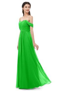 ColsBM Sylvia Classic Green Bridesmaid Dresses Mature Floor Length Sweetheart Ruching A-line Zip up