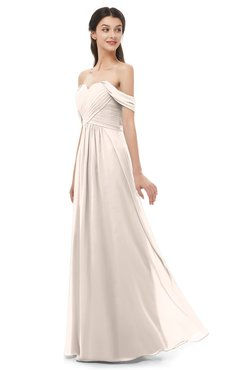ColsBM Sylvia Cream Pink Bridesmaid Dresses Mature Floor Length Sweetheart Ruching A-line Zip up