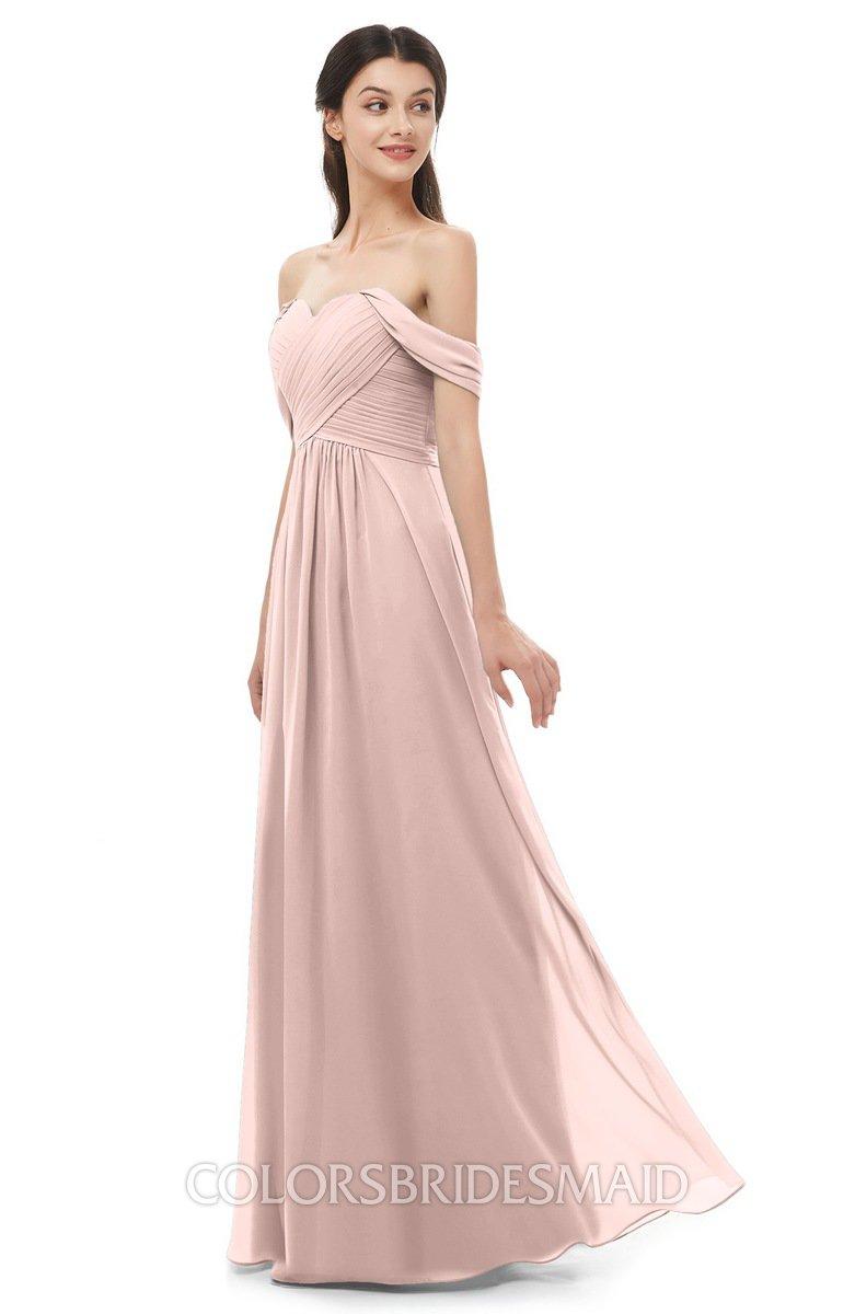 0f5fb39081 ColsBM Sylvia Dusty Rose Bridesmaid Dresses Mature Floor Length Sweetheart  Ruching A-line Zip up