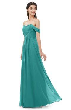ColsBM Sylvia Emerald Green Bridesmaid Dresses Mature Floor Length Sweetheart Ruching A-line Zip up