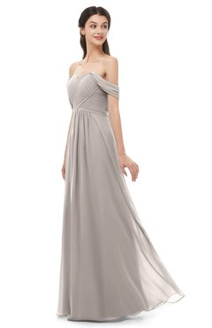 ColsBM Sylvia Fawn Bridesmaid Dresses Mature Floor Length Sweetheart Ruching A-line Zip up