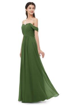ColsBM Sylvia Garden Green Bridesmaid Dresses Mature Floor Length Sweetheart Ruching A-line Zip up