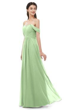 ColsBM Sylvia Gleam Bridesmaid Dresses Mature Floor Length Sweetheart Ruching A-line Zip up