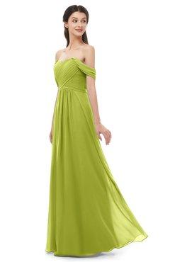 ColsBM Sylvia Green Oasis Bridesmaid Dresses Mature Floor Length Sweetheart Ruching A-line Zip up