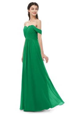 ColsBM Sylvia Green Bridesmaid Dresses Mature Floor Length Sweetheart Ruching A-line Zip up