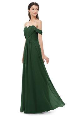ColsBM Sylvia Hunter Green Bridesmaid Dresses Mature Floor Length Sweetheart Ruching A-line Zip up