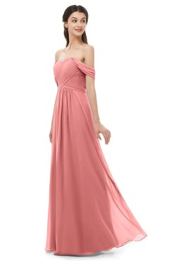ColsBM Sylvia Lantana Bridesmaid Dresses Mature Floor Length Sweetheart Ruching A-line Zip up