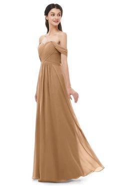 ColsBM Sylvia Light Brown Bridesmaid Dresses Mature Floor Length Sweetheart Ruching A-line Zip up