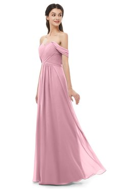 ColsBM Sylvia Light Coral Bridesmaid Dresses Mature Floor Length Sweetheart Ruching A-line Zip up