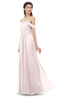 ColsBM Sylvia Light Pink Bridesmaid Dresses Mature Floor Length Sweetheart Ruching A-line Zip up