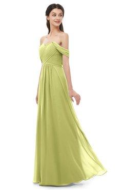 ColsBM Sylvia Linden Green Bridesmaid Dresses Mature Floor Length Sweetheart Ruching A-line Zip up