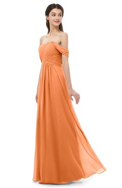 ColsBM Sylvia Mango Bridesmaid Dresses Mature Floor Length Sweetheart Ruching A-line Zip up