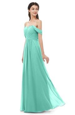 ColsBM Sylvia Mint Green Bridesmaid Dresses Mature Floor Length Sweetheart Ruching A-line Zip up