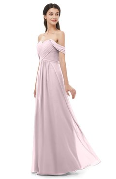 ColsBM Sylvia Pale Lilac Bridesmaid Dresses Mature Floor Length Sweetheart Ruching A-line Zip up