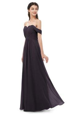 ColsBM Sylvia Perfect Plum Bridesmaid Dresses Mature Floor Length Sweetheart Ruching A-line Zip up