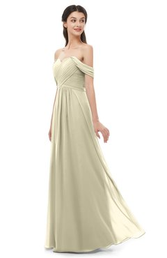 ColsBM Sylvia Putty Bridesmaid Dresses Mature Floor Length Sweetheart Ruching A-line Zip up
