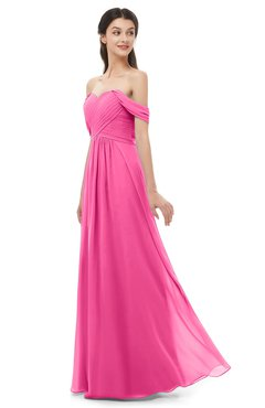 ColsBM Sylvia Rose Pink Bridesmaid Dresses Mature Floor Length Sweetheart Ruching A-line Zip up