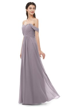 ColsBM Sylvia Sea Fog Bridesmaid Dresses Mature Floor Length Sweetheart Ruching A-line Zip up