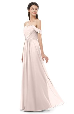 ColsBM Sylvia Silver Peony Bridesmaid Dresses Mature Floor Length Sweetheart Ruching A-line Zip up