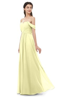 ColsBM Sylvia Wax Yellow Bridesmaid Dresses Mature Floor Length Sweetheart Ruching A-line Zip up