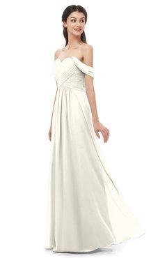 ColsBM Sylvia Whisper White Bridesmaid Dresses Mature Floor Length Sweetheart Ruching A-line Zip up