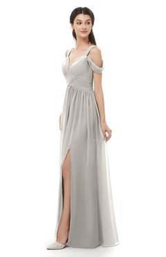 ColsBM Raven Ashes Of Roses Bridesmaid Dresses Split-Front Modern Short Sleeve Floor Length Thick Straps A-line