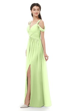 ColsBM Raven Butterfly Bridesmaid Dresses Split-Front Modern Short Sleeve Floor Length Thick Straps A-line