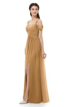 ColsBM Raven Doe Bridesmaid Dresses Split-Front Modern Short Sleeve Floor Length Thick Straps A-line