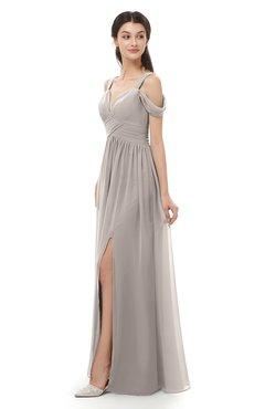ColsBM Raven Fawn Bridesmaid Dresses Split-Front Modern Short Sleeve Floor Length Thick Straps A-line