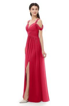 ColsBM Raven Lollipop Bridesmaid Dresses Split-Front Modern Short Sleeve Floor Length Thick Straps A-line