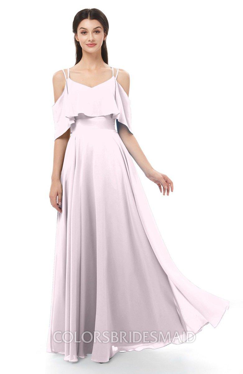 b68d1df5b1a ColsBM Jamie Blush Bridesmaid Dresses Floor Length Pleated V-neck Half  Backless A-line