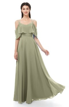 ColsBM Jamie Sponge Bridesmaid Dresses Floor Length Pleated V-neck Half Backless A-line Modern