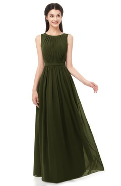 ColsBM Briar Beech Bridesmaid Dresses Sleeveless A-line Pleated Floor Length Elegant Bateau