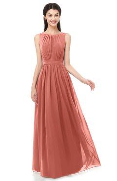 ColsBM Briar Crabapple Bridesmaid Dresses Sleeveless A-line Pleated Floor Length Elegant Bateau