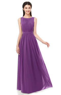 ColsBM Briar Dahlia Bridesmaid Dresses Sleeveless A-line Pleated Floor Length Elegant Bateau