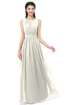 ColsBM Briar Ivory Bridesmaid Dresses Sleeveless A-line Pleated Floor Length Elegant Bateau