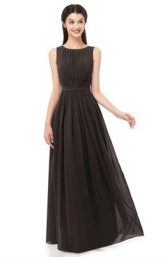 ColsBM Briar Java Bridesmaid Dresses Sleeveless A-line Pleated Floor Length Elegant Bateau