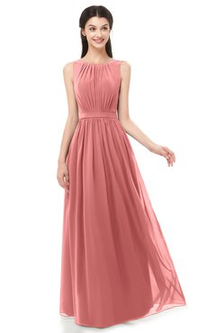 ColsBM Briar Lantana Bridesmaid Dresses Sleeveless A-line Pleated Floor Length Elegant Bateau