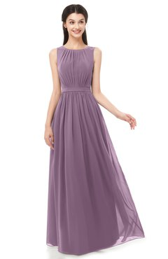 ColsBM Briar Lavender Bridesmaid Dresses Sleeveless A-line Pleated Floor Length Elegant Bateau