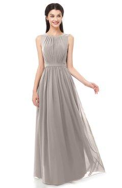 ColsBM Briar Mushroom Bridesmaid Dresses Sleeveless A-line Pleated Floor Length Elegant Bateau