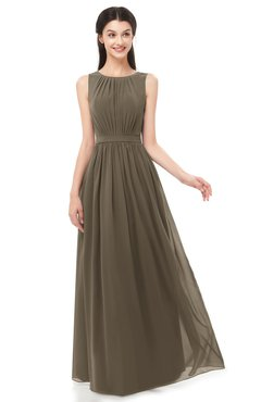 ColsBM Briar Otter Bridesmaid Dresses Sleeveless A-line Pleated Floor Length Elegant Bateau