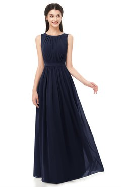 ColsBM Briar Peacoat Bridesmaid Dresses Sleeveless A-line Pleated Floor Length Elegant Bateau