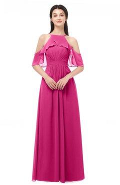 ColsBM Andi Cabaret Bridesmaid Dresses Zipper Off The Shoulder Elegant Floor Length Sash A-line