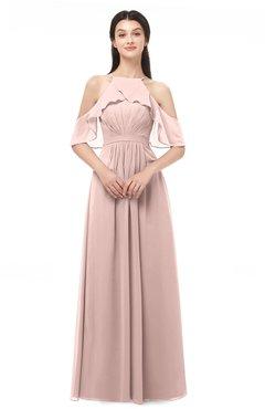 ColsBM Andi Dusty Rose Bridesmaid Dresses Zipper Off The Shoulder Elegant Floor Length Sash A-line